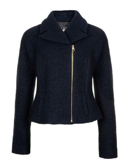 4cea0f54689783 Woollen biker jacket - Navy