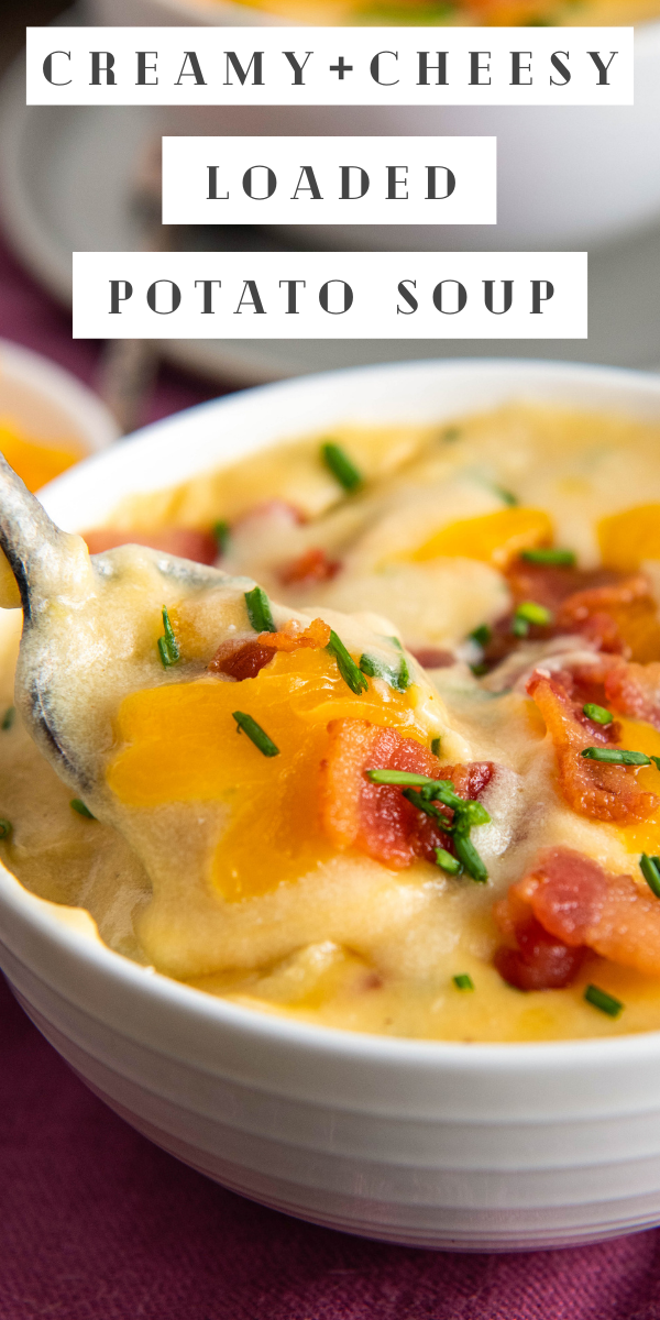 This Is The Best Creamy Potato Soup Recipe It S Loaded With Sour Cream Bacon Cheese And Chives Bonus It Only Takes 30 Minutes
