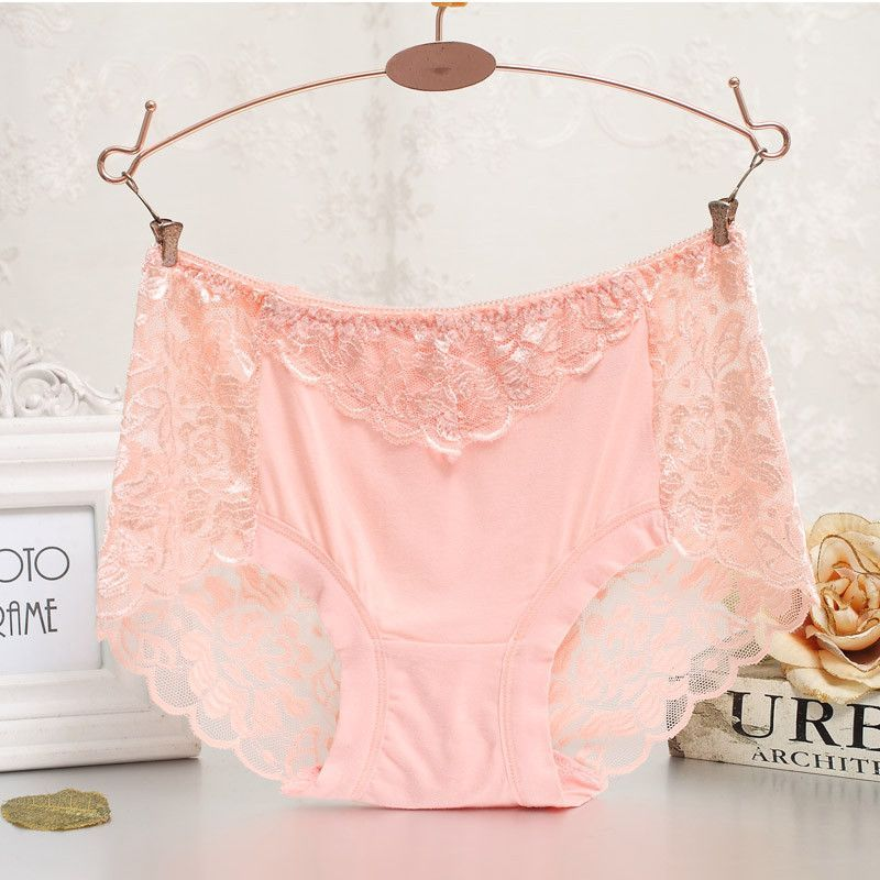 57c03a4641f Women underwear briefs sexy women s panties full transparent pink lace  seamless plus size string panty underwear women