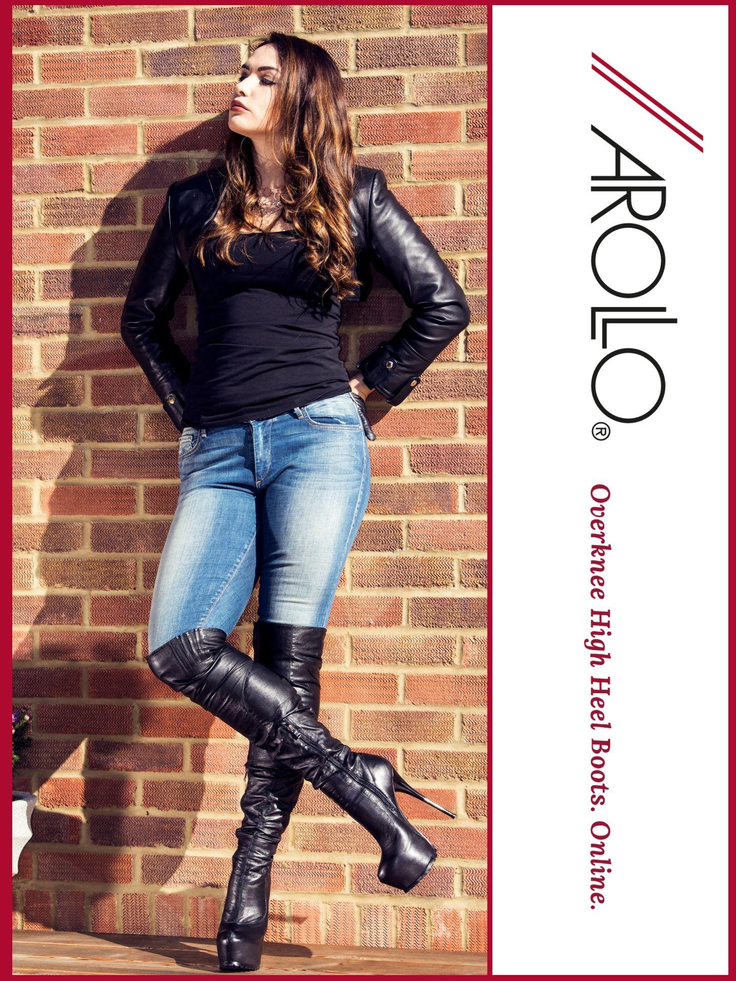 Overknee Stiefel in schwarz für Damen von bonprix | Online