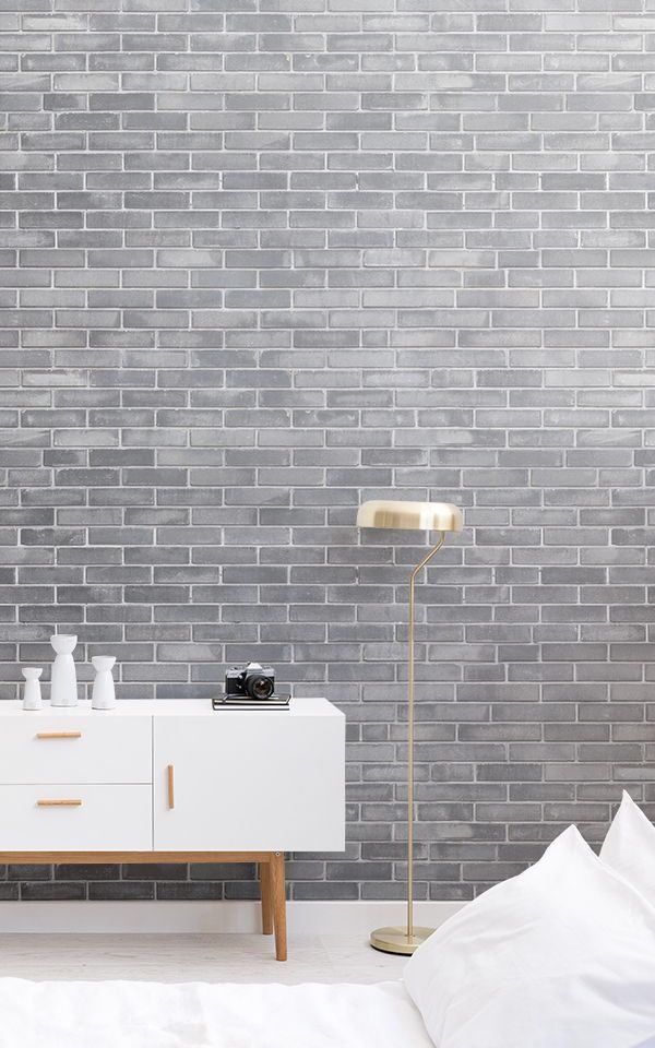 Papel Pintado Ladrillo Gris In 2018 | Murales De Papel Tapiz | Pinterest |  Tapeten, Ziegel Tapete Und Tapete Grau