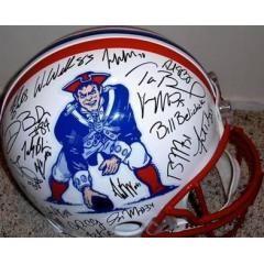 Patriots Authentic Team Signed Throwback Helmet