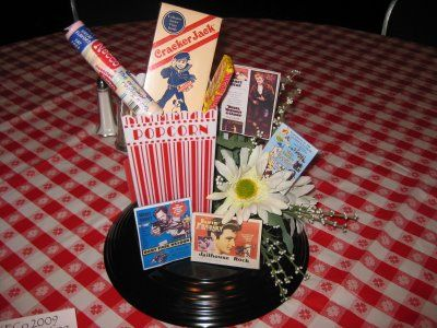 retro themed decorations retro centerpiece diy pinterest centerpieces elvis birthday
