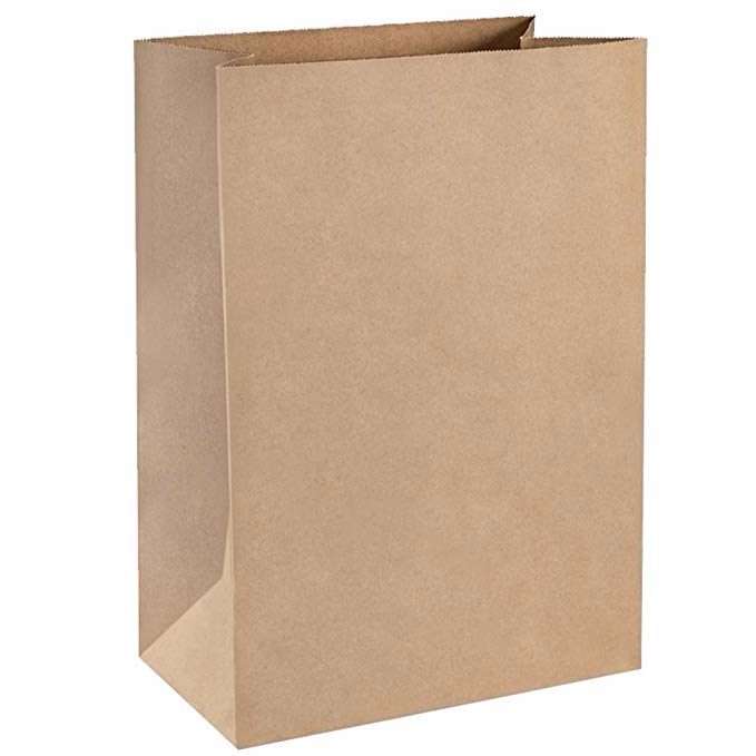 Amazon Com Bagdream Grocery Bags 12x7x17 Inches 100pcs Heavy Duty Kraft Brown Paper Grocery Bags Durab Paper Crafts Origami Paper Grocery Bags Paper Gift Bags