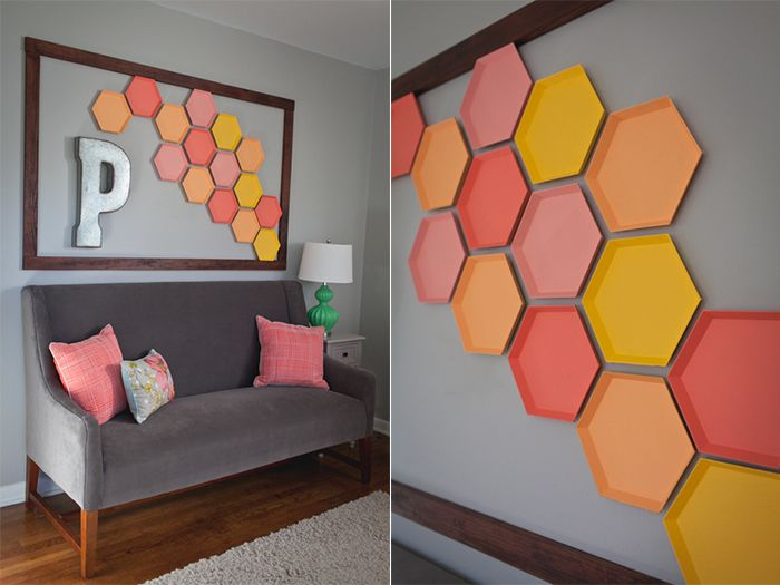 Hexagon Wall Art Tackling Large Walls Can Be
