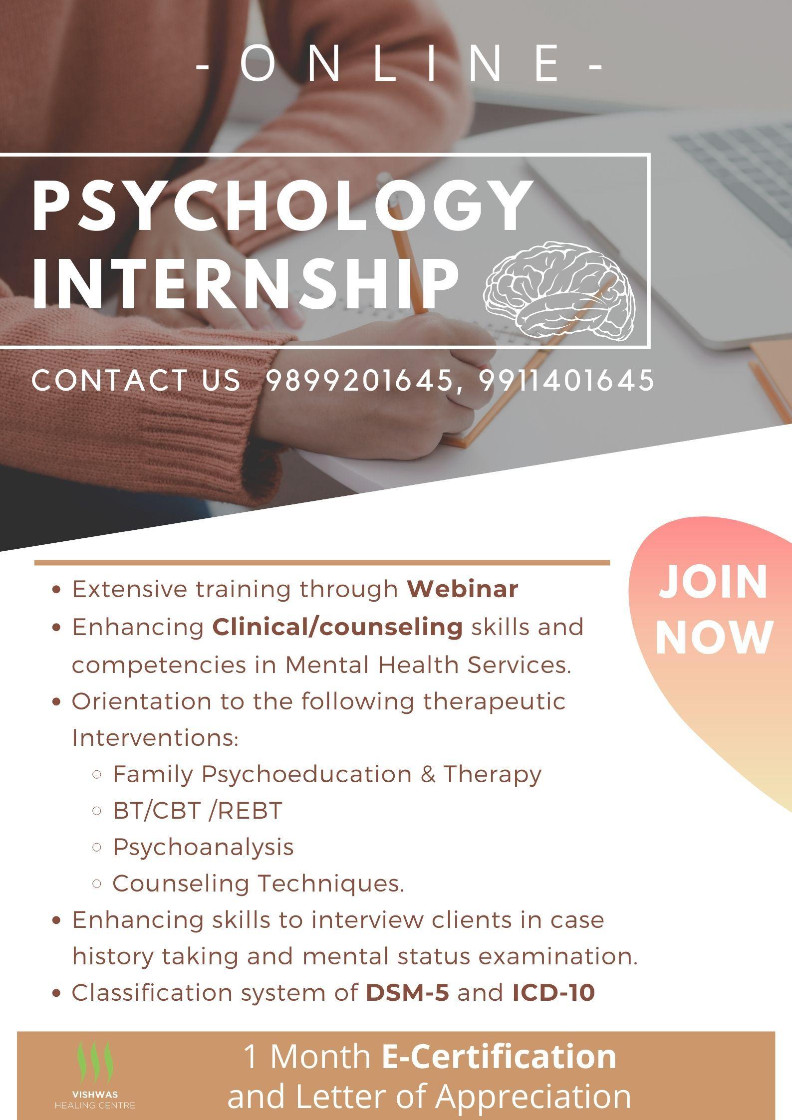Online Psychology Internship In 2020 Psychology Internships Counseling Techniques Psychoeducation