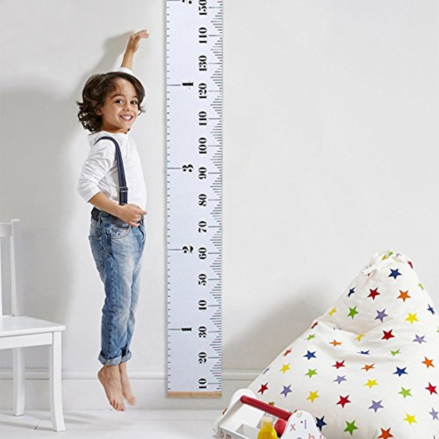 Baby height growth chart wall hanging ruler height measurement chart baby height growth chart wall hanging ruler height measurement chart with wood frame brief style geenschuldenfo Gallery