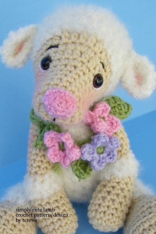 Lamb Crochet Pdf Pattern Simply Cute By Tlc By Thewoolpurl On Etsy