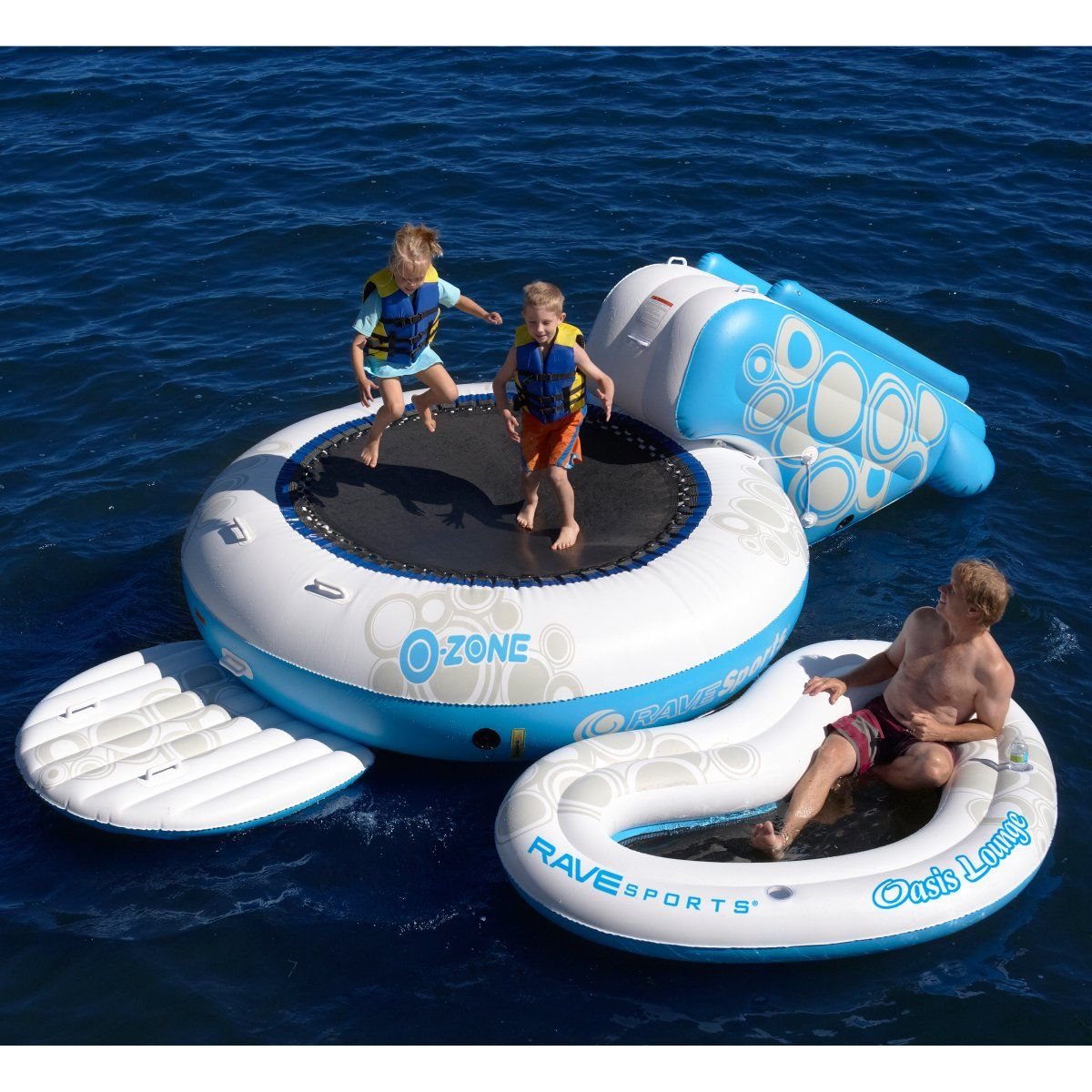 RAVE Sports OZone Bounce Platform Water Trampolines at