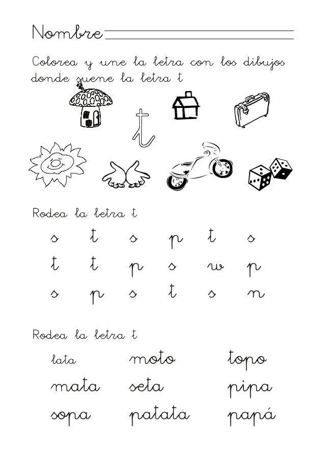 Proyecto HABLA-M: Consonante T | mi ayudante | Pinterest