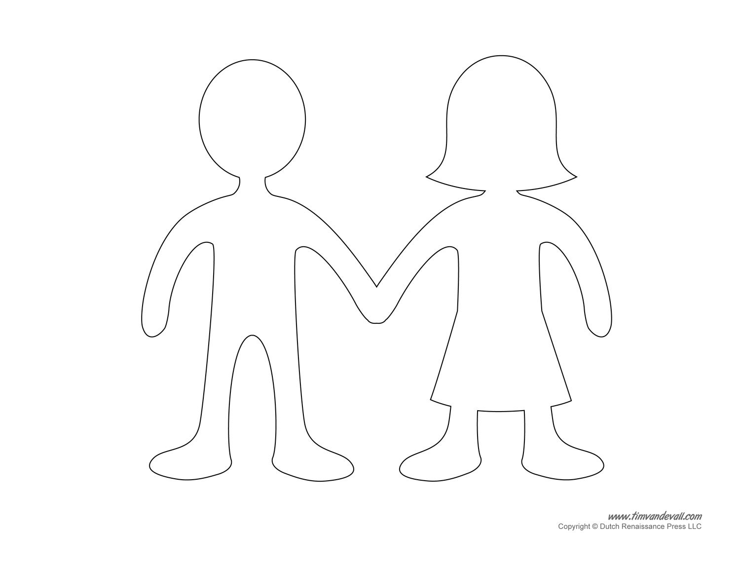 picture relating to Paper Doll Template Printable identified as Blank Paper Doll Templates Unique Crafts Paper doll