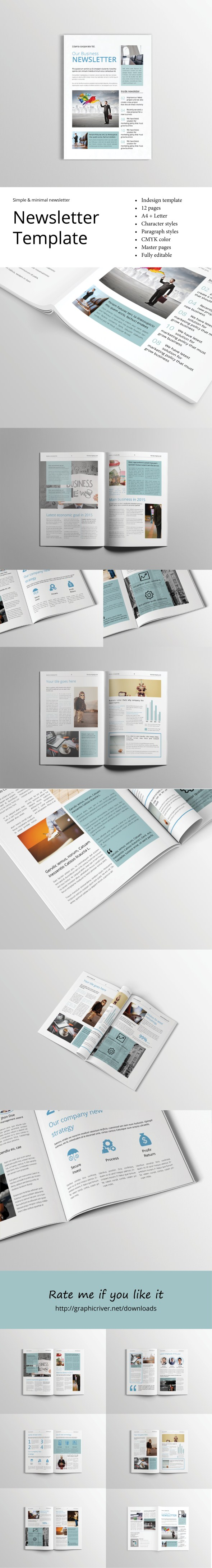 Professional Corporate Indesign Newsletter Template That Can Be