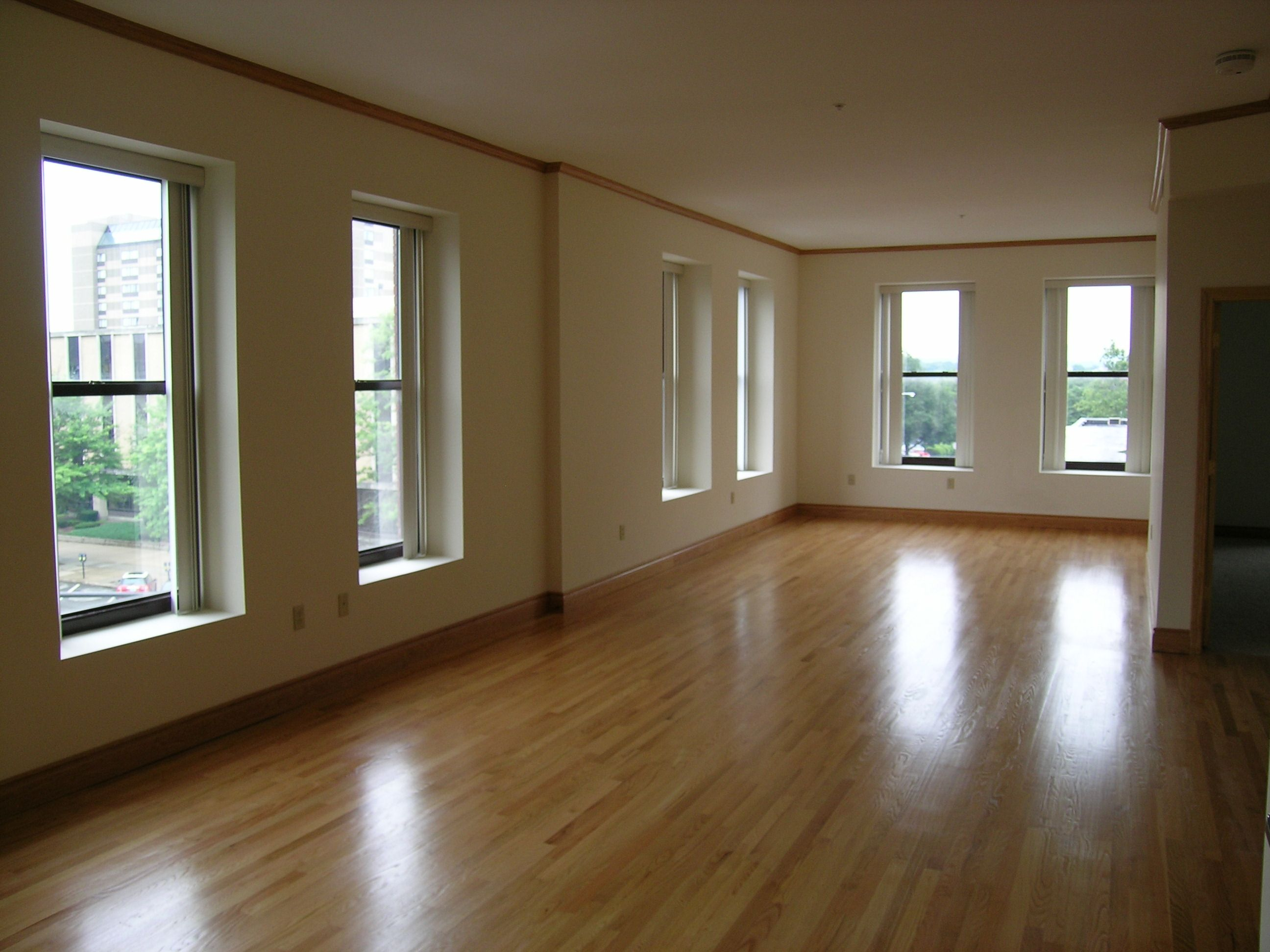 Pembroke Building Luxury Apartments Layout 2 Living Room With Oak Hardwood Floors