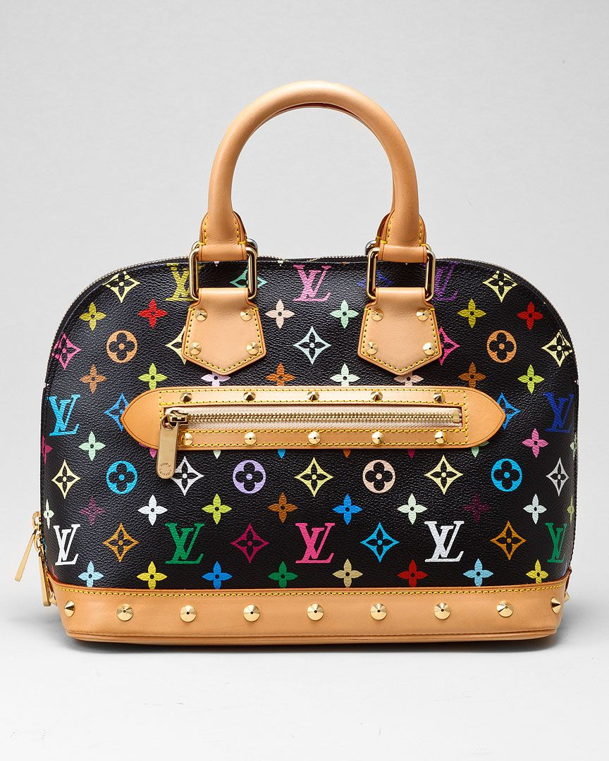 Louis Vuitton Multicolored Alma Noir   Fashion Extras  Beautiful ... c0d73b88dc9