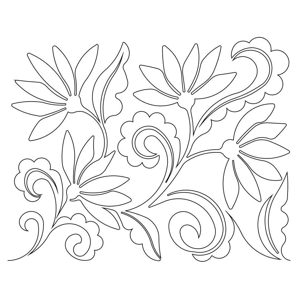 Paisley Flowers b2b | Patrones de Bordado | Pinterest | Bordado ...