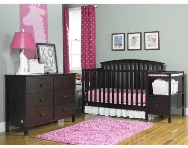 Convertible Crib Changer Set Baby Toddler Bed Nursery Furniture ...