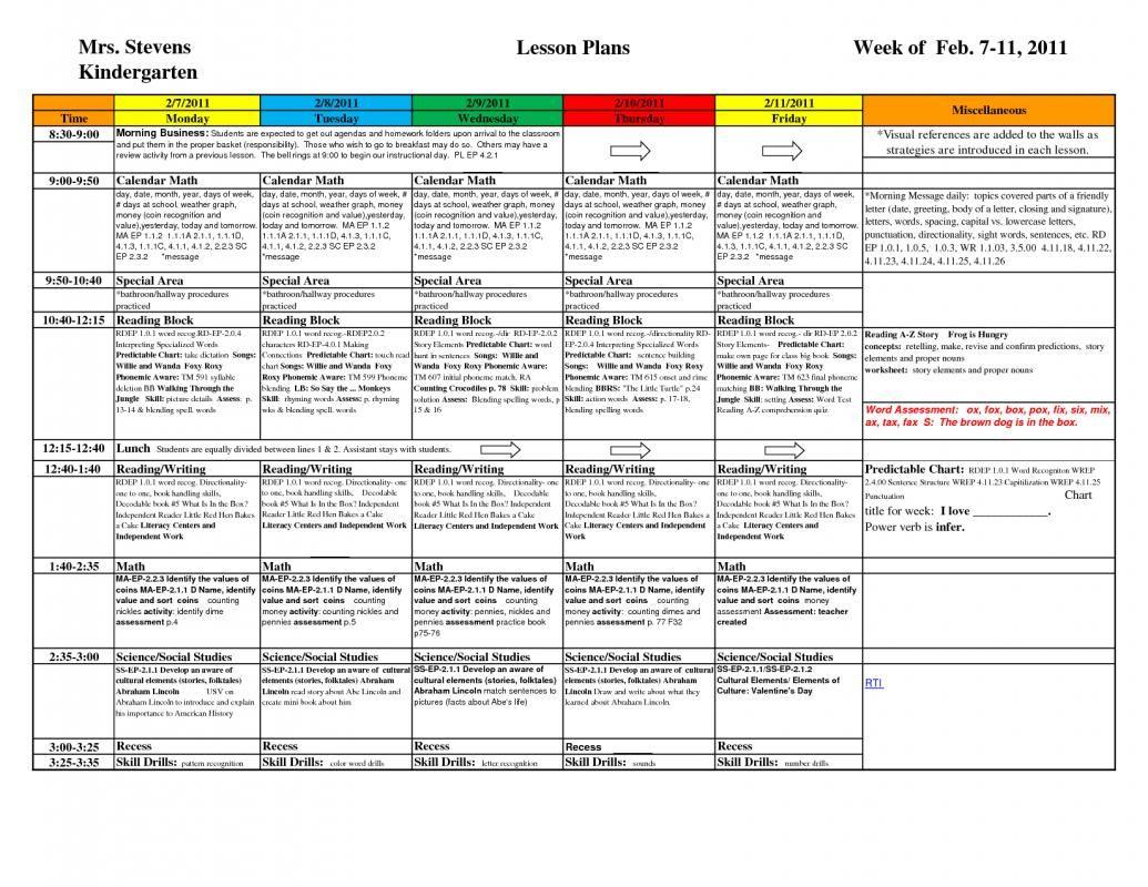 Pre K Lesson Plan Templates | Lesson plan templates, Pre k ...