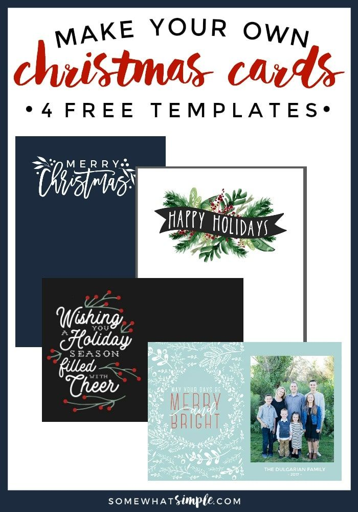 Make Your Own Photo Christmas Cards (for FREE!) | Pinterest | Free ...