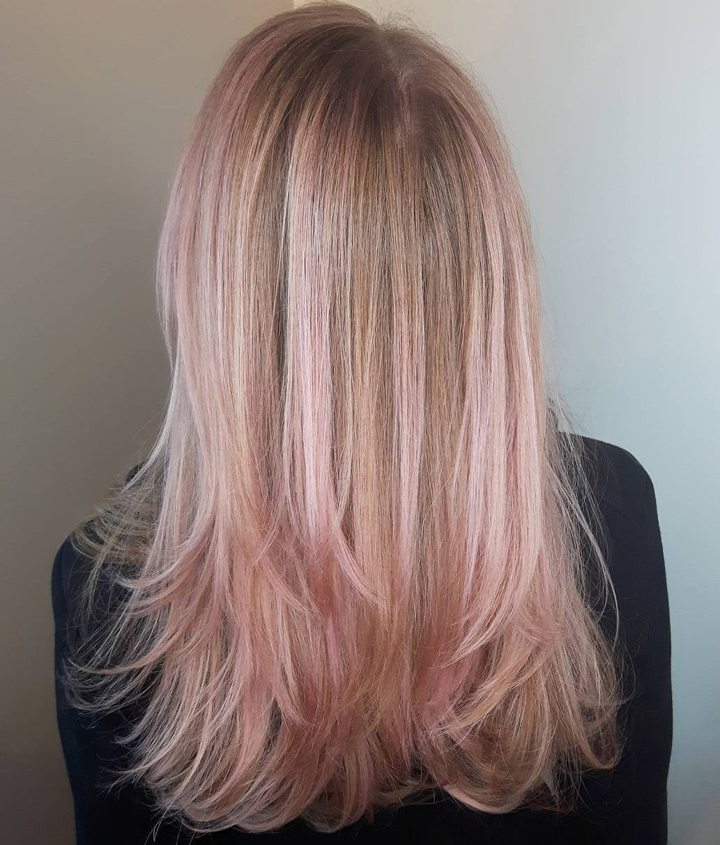 20 Gorgeous Examples Of Rose Gold Balayage Balayage Haarfarbe Balayage Und Rosegold Balayage