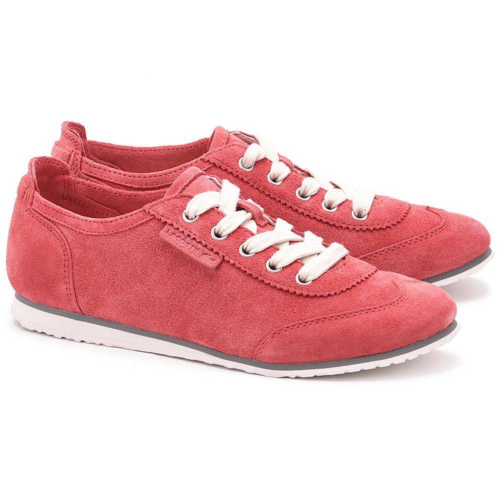 Lacoste New Missano Runner Koralowe Zamszowe Polbuty Damskie Buty Kobiety Polbuty Mivo Lacoste Keds Sneakers