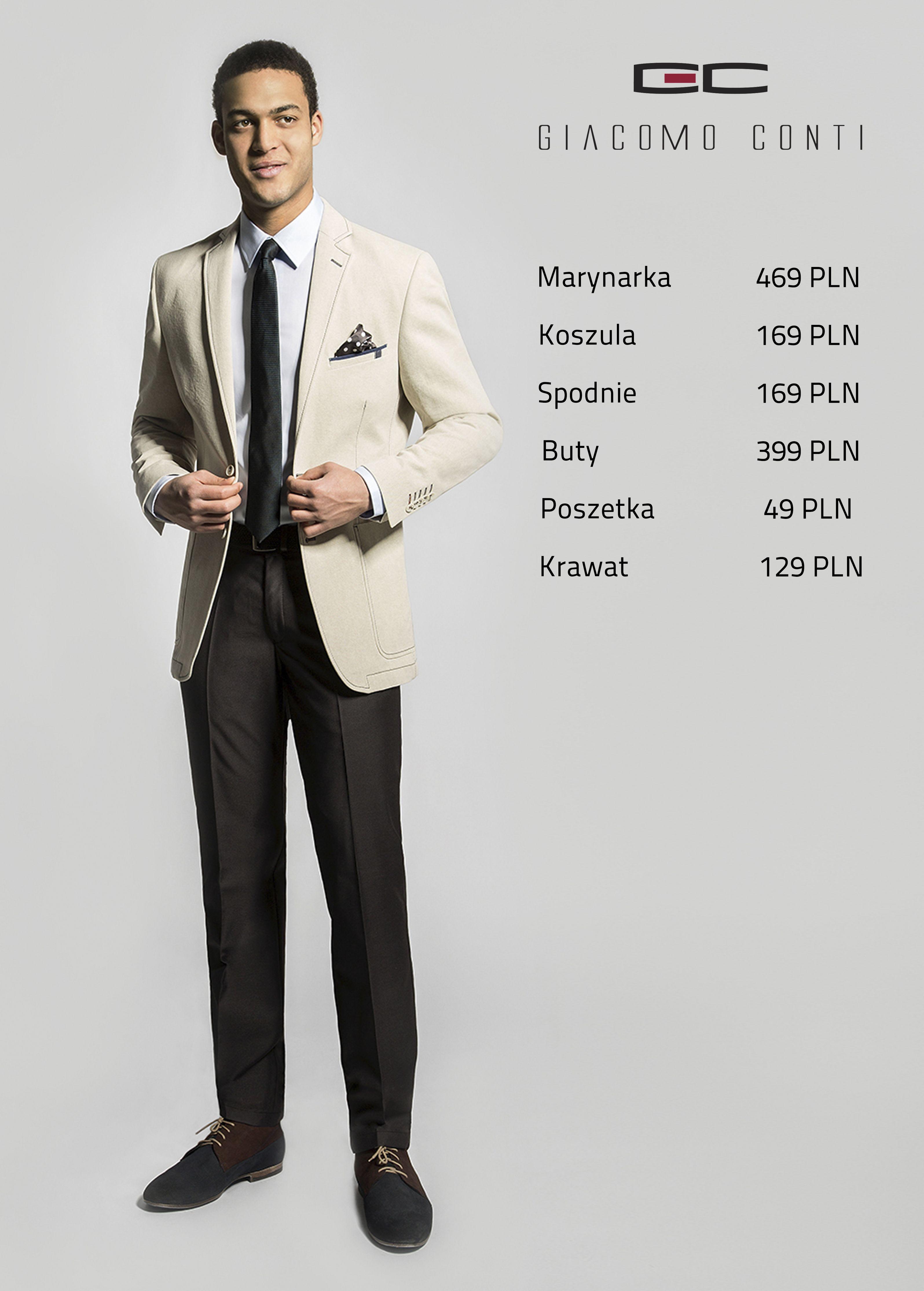Stylizacja Giacomo Conti Bezowa Marynarka Antonio 15 28 Om Koszula Simone Slim 031 Spodnie Luciano 14
