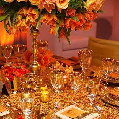 yellow, orange and gold..... sophisticated and unforgettable