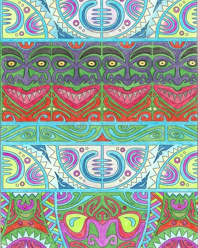 nice color and hues free inca coloring page download pin