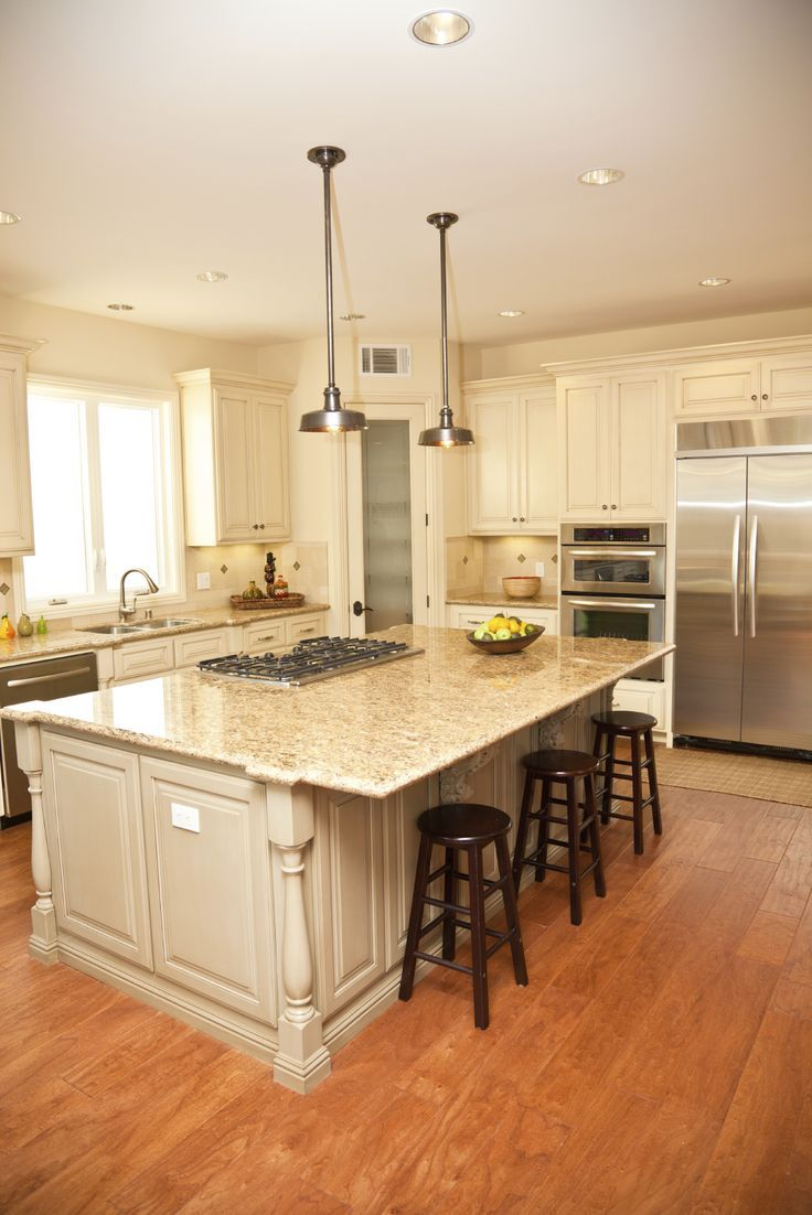 84 custom kitchen island designs luxurious beige tone island features wide overhang for dining with built in range