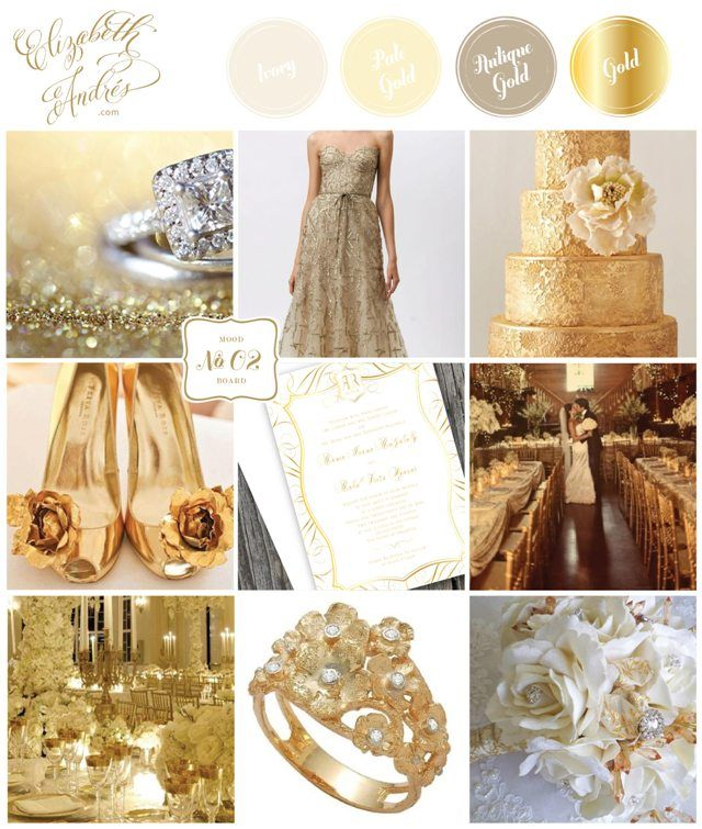White And Gold Wedding Inspiration Mood Board Champagne Antique Ivory By Elizabeth Andres Designs In Dubai