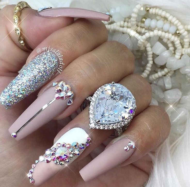 Image result for blingy february nails   nail designs   Pinterest