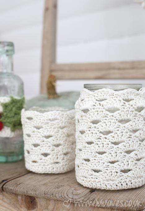 Crochet Jar Cozy   Crochet   Pinterest   Frascos, Ganchillo y Tejido