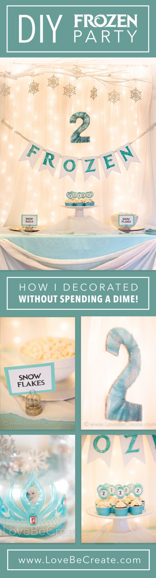 Throw a Frozen Birthday Party for $0   MY DIY PROJECTS   Pinterest ...