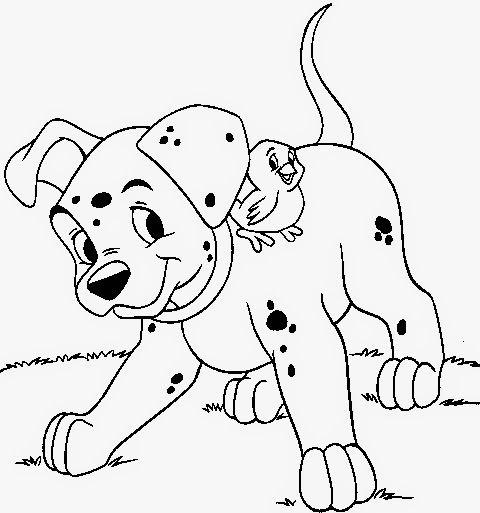 Desenhos Dos 101 Dalmatas Para Colorir Pintar Imprimir Gratis