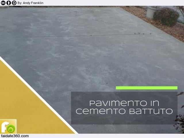Pavimenti in battuto di cemento cemento stampato - Cemento colorato per esterni costo ...
