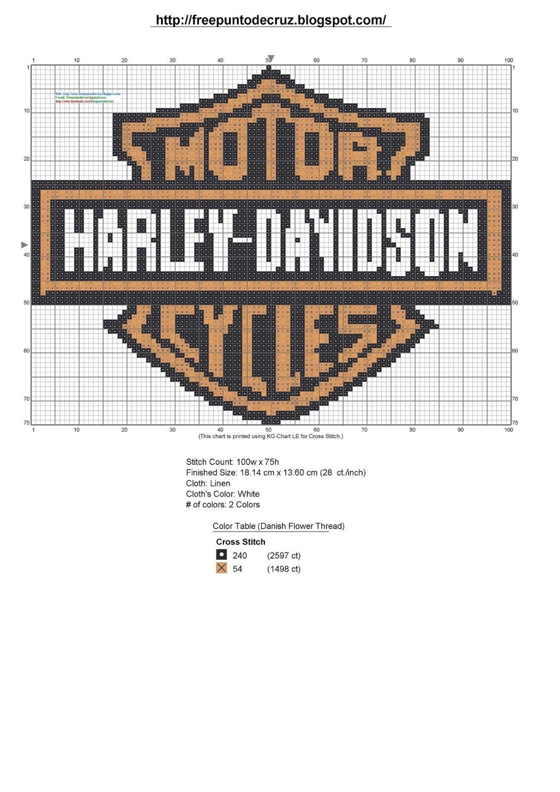 Dibujos Punto De Cruz Gratis Resultados De La Bsqueda De Harley
