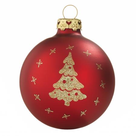 Rote Christbaumkugeln.Christbaumkugeln Einzelmotive Rot Bombki