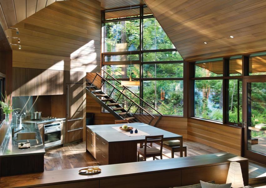 Lakeside Camp Custom Home Magazine Murdough Design Center Harbor Nh United States Custom