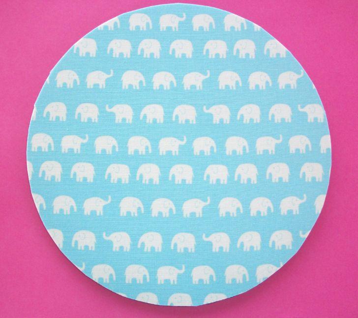 Round Mouse Pad / mousepad / Mat - blue elephants. $9.00, via Etsy.