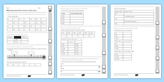 Place Value Worksheets : place value worksheets ks2 year 4 Place ...