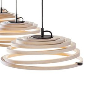Aspiro, the pendant lamp created by the Finnish lighting company Secto Design.