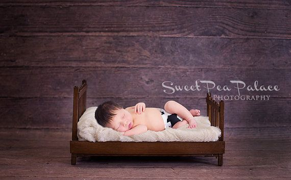 Newborn Baby Photography Prop Digital Backdrop for Photographers Wood Bed #backdropsforphotographs
