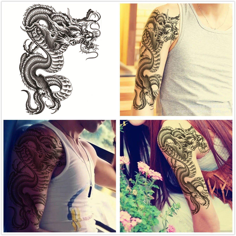 Extra Large Temporary Tattoos, 5 Sheets Fake Tattoo Biker