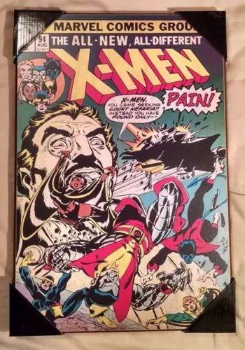 Uncanny X Men 94 Marvel Silver Buffalo 13 X 19 Wood Wall Art Decor New Rare Comic Books Marvel Comics Covers Comics