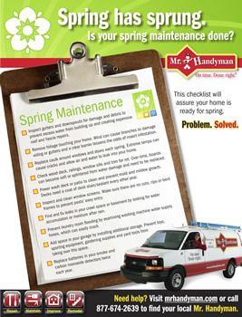 Spring Home Maintenance Checklist Free Printable Inspection