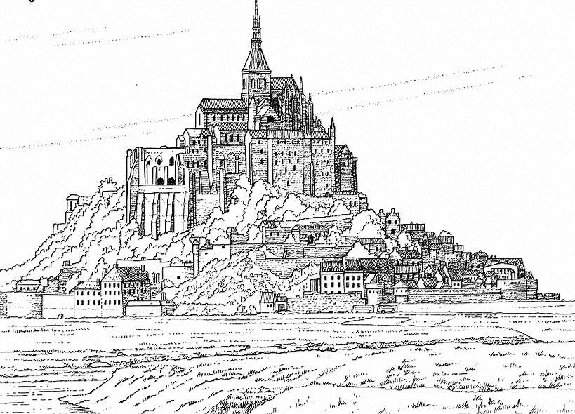 Coloriage En Ligne Gratuit Chateau.Mont Saint Michel Coloring Coloriage En Ligne Gratuit