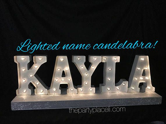 Lighted Marquee Candelabra or centerpiece