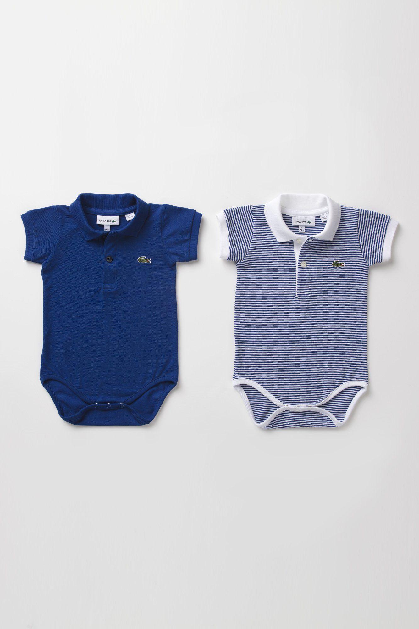 Lacoste Boy s Pique Polo Onesie Gift Set   Baby Bebês Meninas d37254c0439