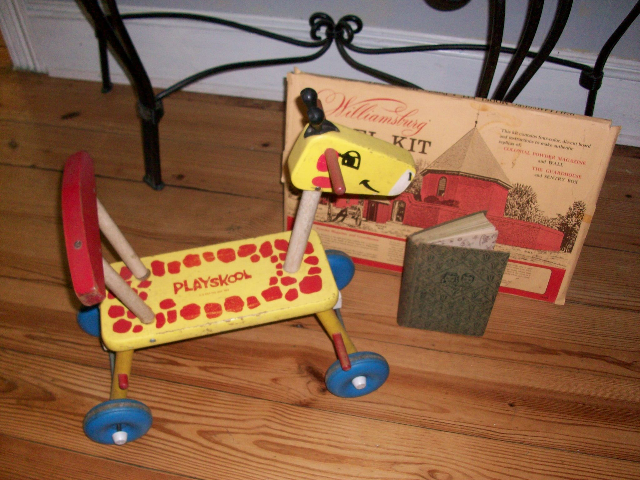 Images of vintage toys  Vintage toys and a book See us in the Primitive Farm Industrial