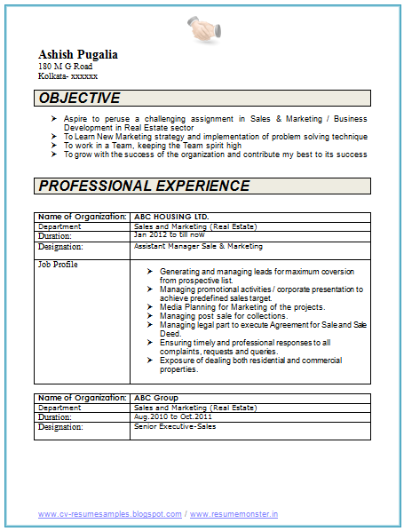 resume format 8 year experience experience format resume resumeformat