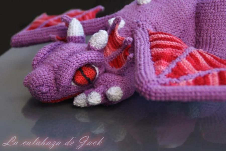 Purple Dragon Crochet by Cristina Justicia